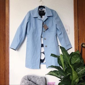 NWT Baby Blue Coach Rain Coat
